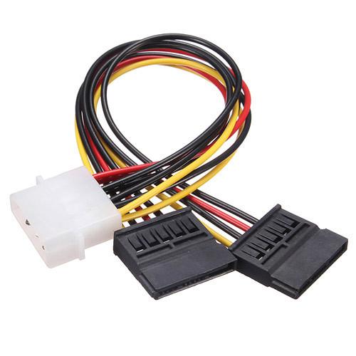 Переходник IDE Molex - 2x Sata 15pin для питания жестких дисков