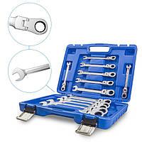 Набор гаечных ключей с храповым механизмом из двух частей 8-19 мм 12 шт HASKYY®