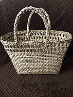 Пляжная сумка из камыша