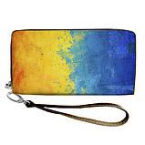 Женский кошелек с принтом на молнии и ручкой размер 18,5 х 10 см, фото 5