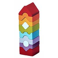Деревянная игрушка Пирамидка LD-10 Cubika 14989