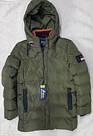 Зимняя теплая удлиненная куртка на мальчика, детская подростковая Рост 146-152