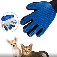 Перчатка для вычесывания шерсти с домашних животных True Touch (01248)