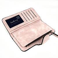 Женский замшевый клатч Baellerry Forever N 2345 | кошелек | портмоне светло розовый