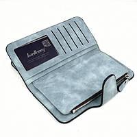 Женский замшевый клатч Baellerry Forever N 2345 | кошелек | портмоне голубой джинс