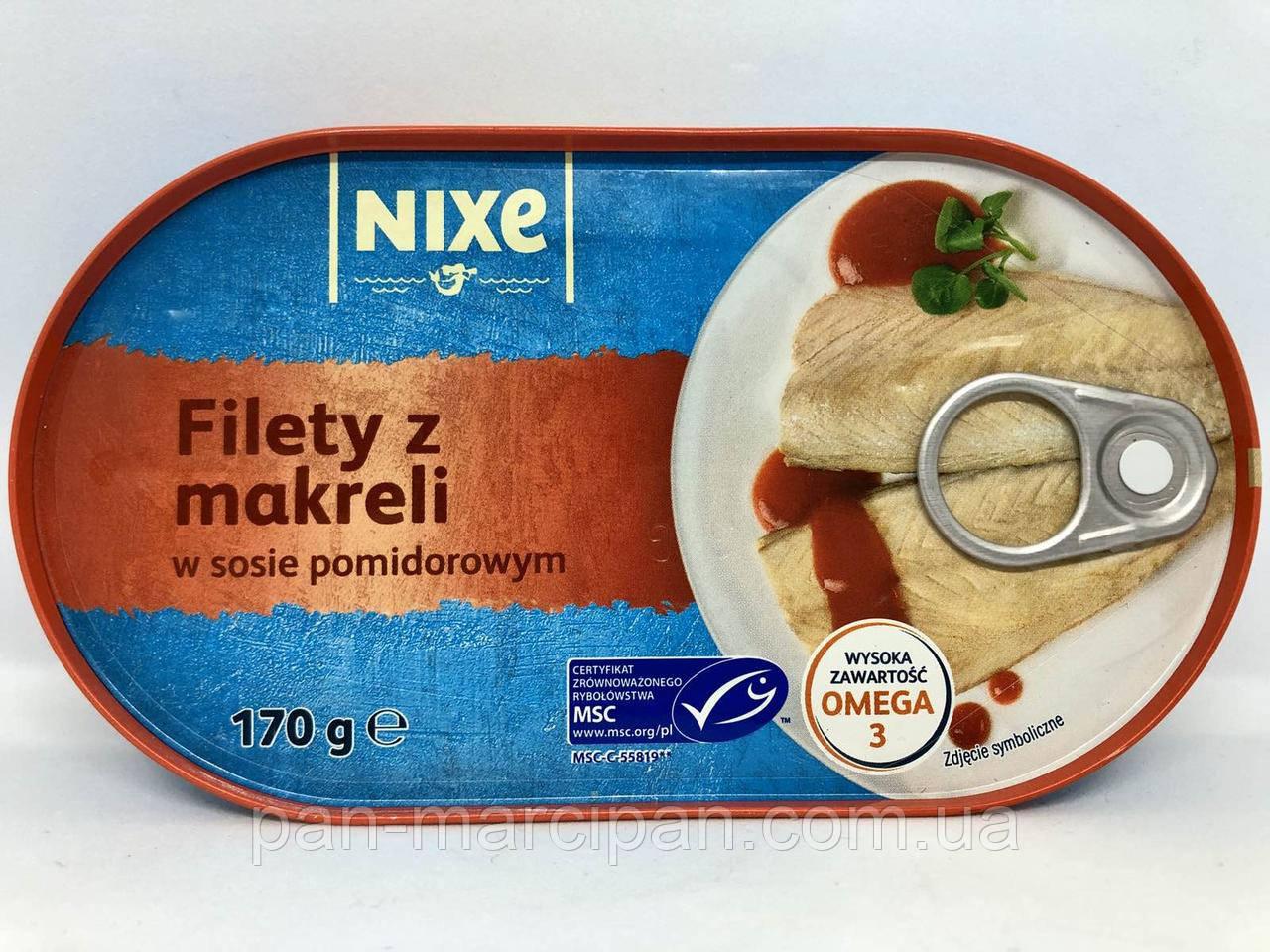 Філе скумбрії у томатному соусі Nixe Filety z Makreli 170 г