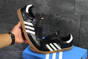 Кроссовки Adidas Samba,черно белые, фото 2