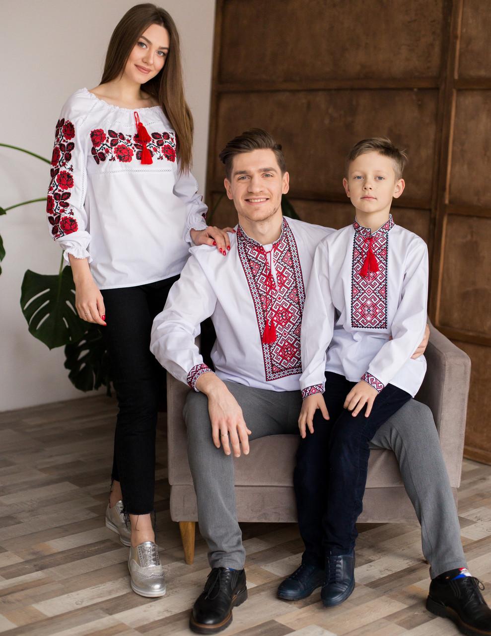 Вишиванки для мами, тата та сина