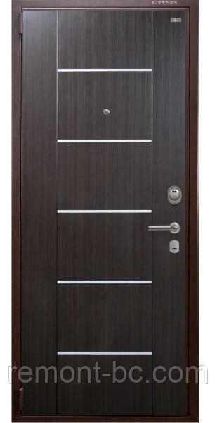 """Двері вхідні """"КВАРТАЛ"""" - БМ1 (венге темний)"""