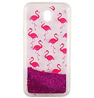 Чехол-накладка (Жидкий Блеск) Flamingo для Samsung Galaxy J7 (2017) SM-J730F Magenta