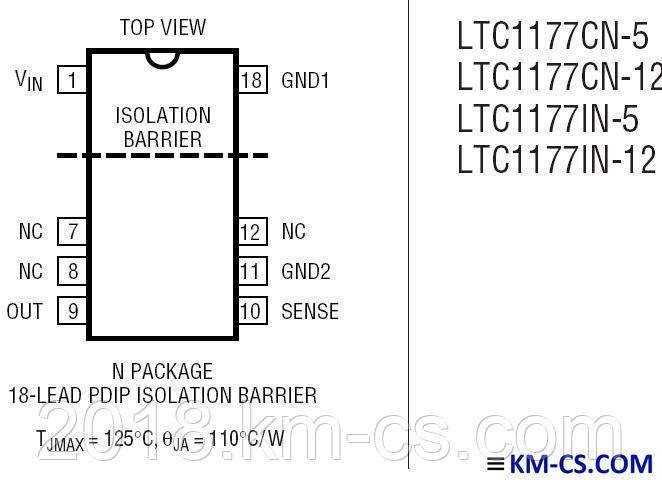 Мікросхема драйвер (контролер) LTC1177CN-12 (Linear Technology)