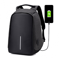 Рюкзак антивор Bobby с USB Black (293)