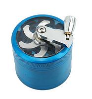 Крешер для табака Мельница L(50мм) синий, фото 1