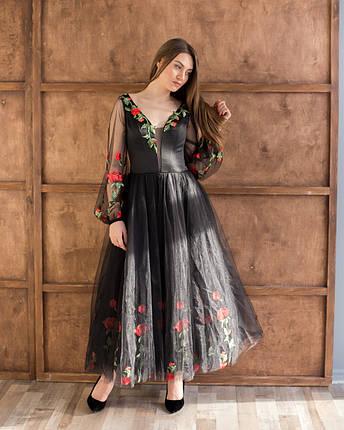Вечірня сукня з вишивкою, фото 2