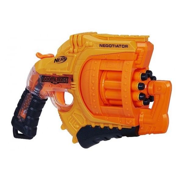 Бластер NERF Doomlands 2169 Negotiator Пистолет нерф с мягкими пулями Оранжевый