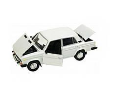 Металическая машинка 2106 Автопром белая
