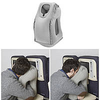 Подушка для путешествий надувная обнимательная c отверстиями для рук + чехол