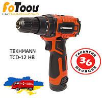 Шуруповерт аккумуляторный TEKHMANN TCD-12 HB Li Гарантія 3 роки