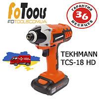 Гайковерт Шуруповерт аккумуляторный Tekhmann TCS-18 HD •Гарантия 3 год