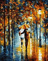 Рисование по номерам 40×50 см. Зонтик для двоих Художник Леонид Афремов