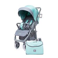 Детская коляска для девочки с родительской сумкой 4Baby Moody Limited Edition Aqua