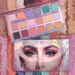 Палетка теней для век Huda Beauty Mercury Retrograde Eyeshadow Palette 18 цветов