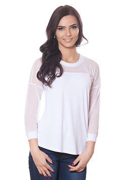 Женский пуловер с сеточкой (размеры S-3XL в расцветках)