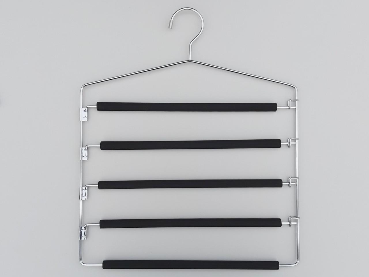Плічка вішалки для брюк металеві 5 ярусів, довжина 40 см