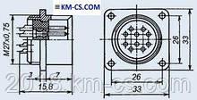 Роз'єм циліндричний, Metal РС50БТВ