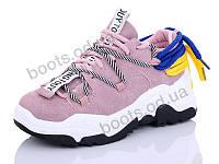 """Кроссовки демисезонные женские """"Cinar"""" #8822-3. р-р 36-40. Цвет розовый. Оптом"""