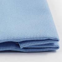 Канва для вишивання ТВШ-38-1 1/37 Аїда 16, блакитна, 20% бавовна 80% поліестер, 50х50см