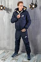 Мужской теплый костюм лыжный штаны плащевка 150 синтепон+куртка плащевка+подкладка овчина размеры:48,50,52,54