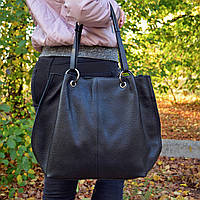Женская большая сумка из натуральной кожи (408/Black)