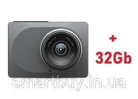 Видеорегистратор Xiaomi Yi Smart Dash camera Global (гарантия 12 месяцев) + присоска + карта 32Gb