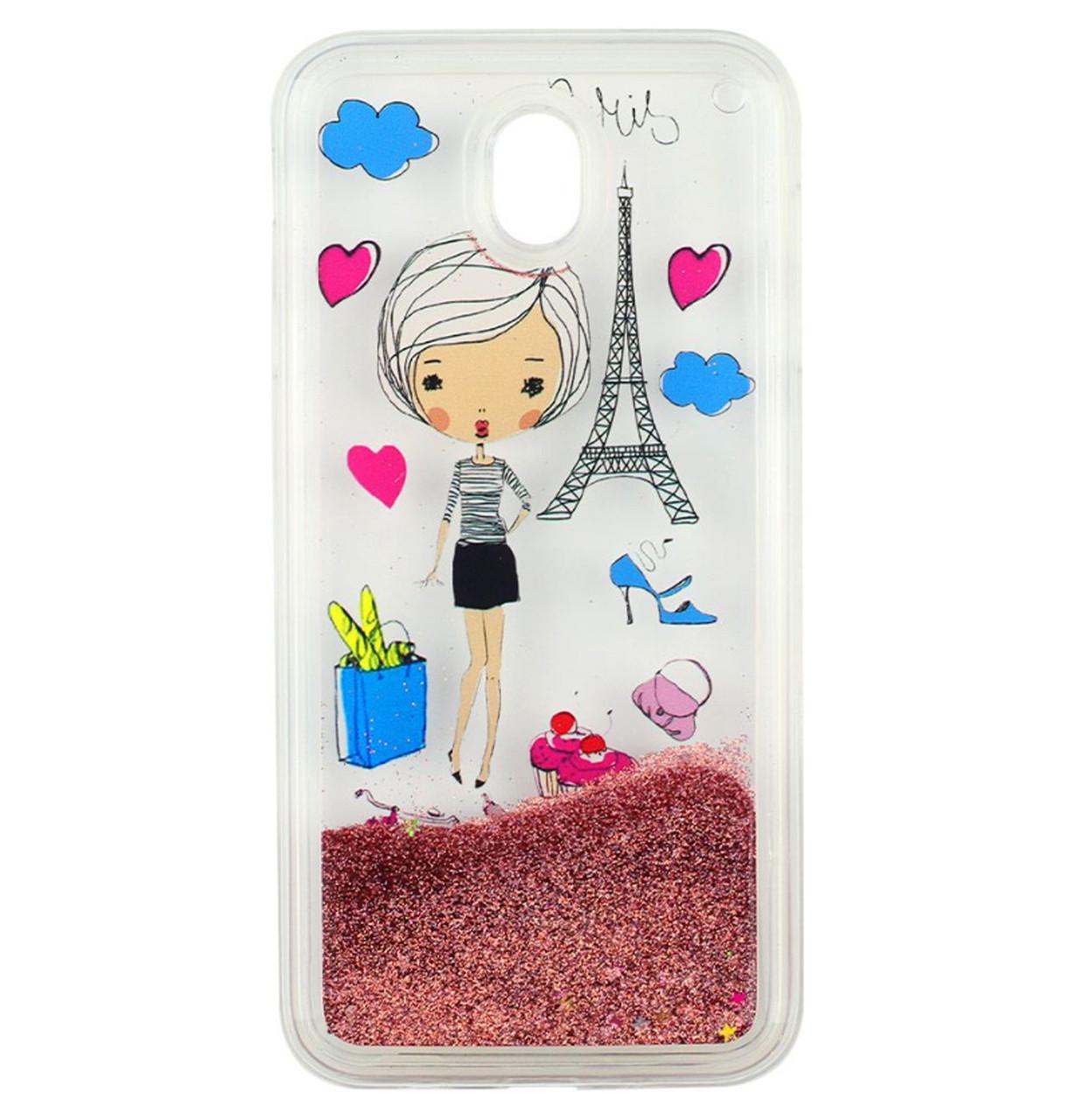 Чехол-накладка (Жидкий Блеск) Lady для Samsung Galaxy J5 (2017) SM-J530F Pink