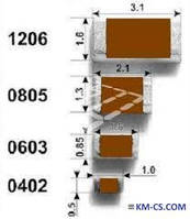 Резистор бескорпусной R-0805 12K 5% // CR21-123-JL (ASJ)