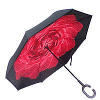 Женский зонт обратного сложения Vip-brella Азалия Красная роса (279)