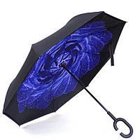 Женский зонт обратного сложения Vip-brella Азалия Синяя роса (280)