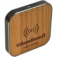 Зарядка беспроводная WoodbooD Wireless Charge Standart Оригинал Black  (355), фото 1