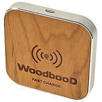 Зарядка беспроводная WoodbooD Wireless Charge Standart Оригинал Silver, фото 1