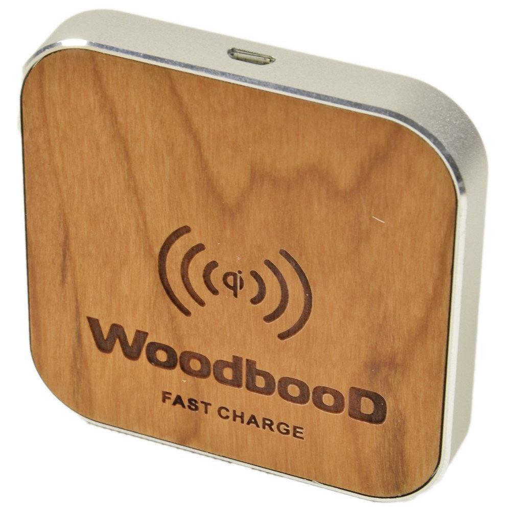 Зарядка беспроводная WoodbooD Wireless Charge Standart Оригинал Silver