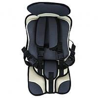 Дитяче автокрісло Child Car Seat безкаркасне 9-18 кг Сірий з бежевим