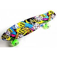 Скейт детский Fish Joker Светящиеся колеса  до 85 кг