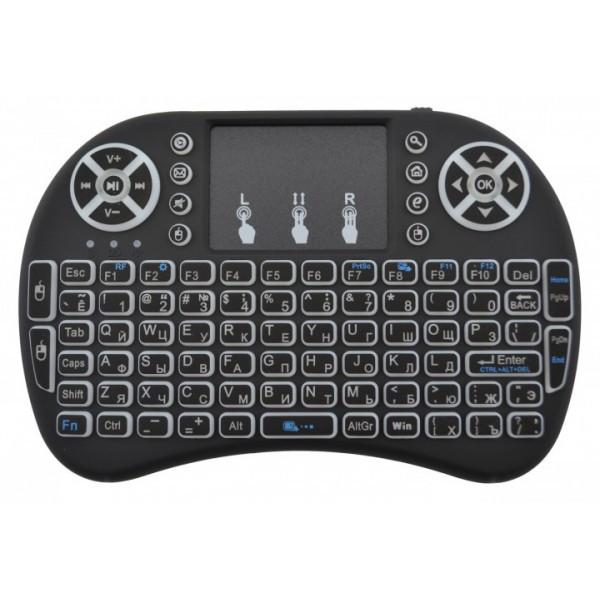Клавиатура мышь Rii mini i8 2.4G англо-русскоязычная беспроводная с тачпадом и подсветкой