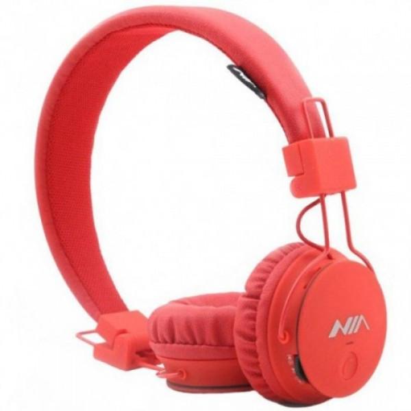 Бездротові навушники NIA X2 Bluetooth гарнітура з MP3 плеєром Радіо Червоний
