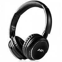Беспроводные наушники стереогарнитура Bluetooth NIA Q1 с МР3 и FM Чёрные, фото 1