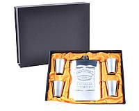 Подарочный набор с Флягой Jack Daniel's (Металл) Лучший подарок для мужчины на любой праздник