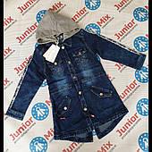 Детские джинсовые удленёные пиджаки для девочек оптом F26