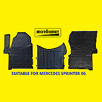 Коврики в салон резиновые для Mercedes Sprinter W 906 (II). 2006-.2017. Без запаха. Пр-во Беларусь