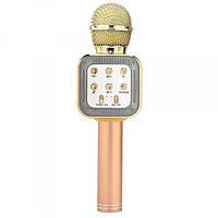 Беспроводной микрофон караоке блютуз Bluetooth динамик USB с ЧЕХЛОМ, фото 1